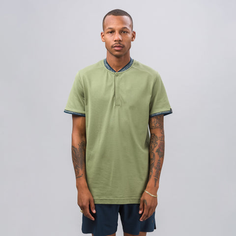 Nike Nikecourt x RF Mix Polo in Palm Green - Notre
