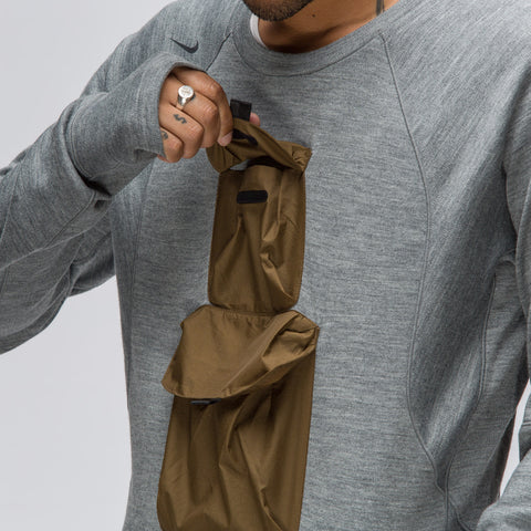 Nike Nikelab AAE Crew in Heather Grey - Notre