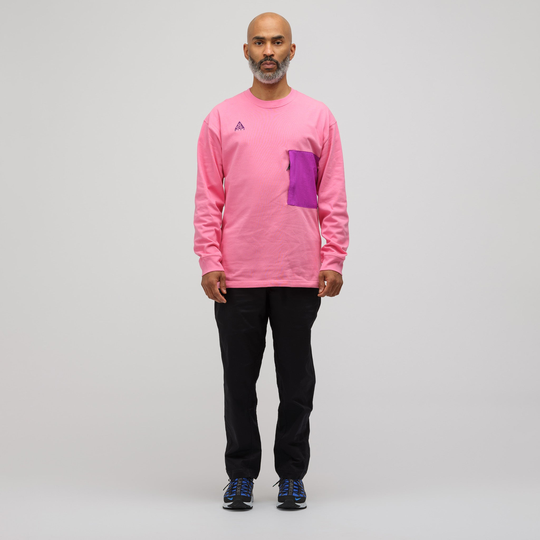 8a9252b4 Nike ACG Long Sleeve T-Shirt in Pink | Notre
