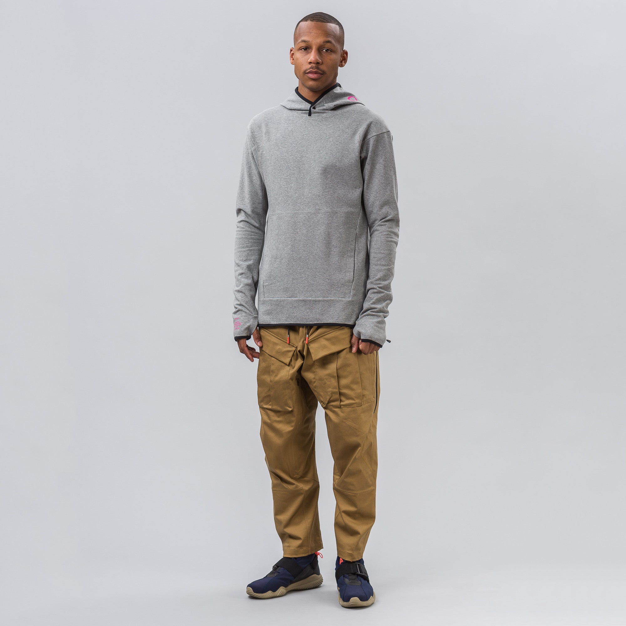 NikeLab ACG Pull-Over Hoodie in Carbon Heather/Cool Grey
