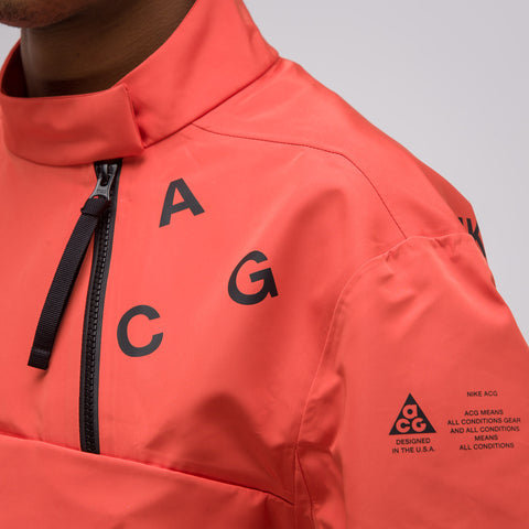 NikeLab ACG Pull Over Shell in Team Orange - Notre