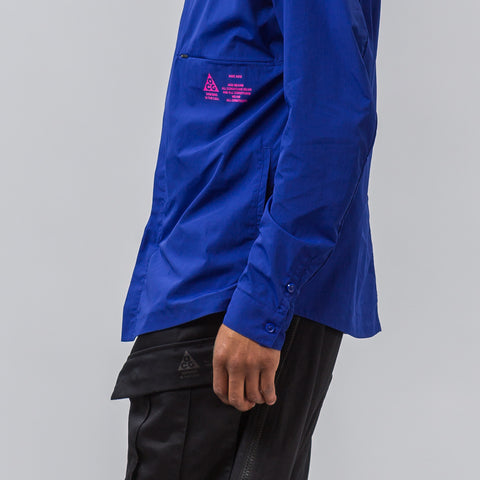 Nike Nikelab ACG Shirt Jacket in Deep Royal Blue - Notre