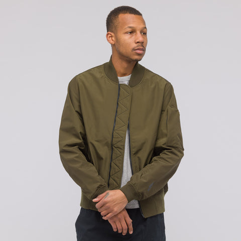 NikeLab NikeLab Essentials Bomber Jacket in Olive - Notre