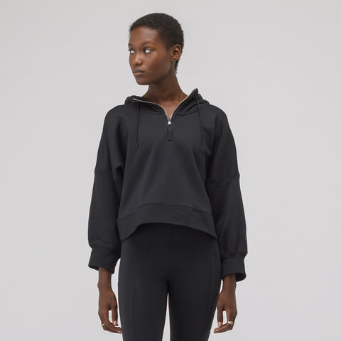 NikeLab Women's Hooded Long Sleeve Top in Black - Notre