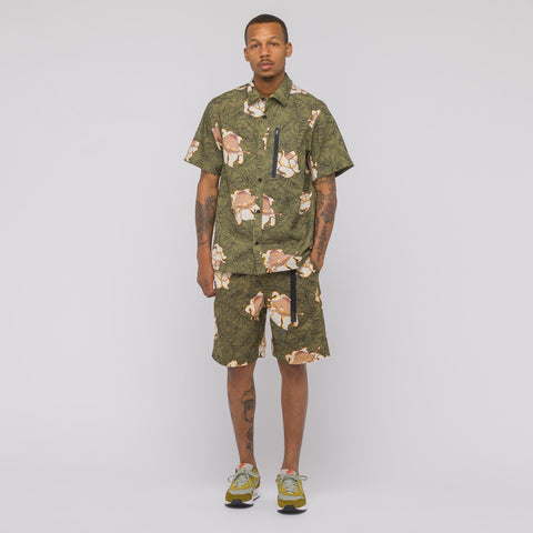 NikeLab NRG Floral Short Sleeve Top in Olive/Black - Notre
