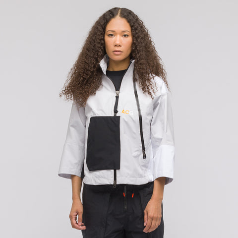 NikeLab Women's ACG Gore-Tex Jacket in White/Vast Grey - Notre