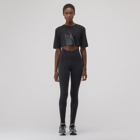 NikeLab Women's Half Shirt in Black - Notre