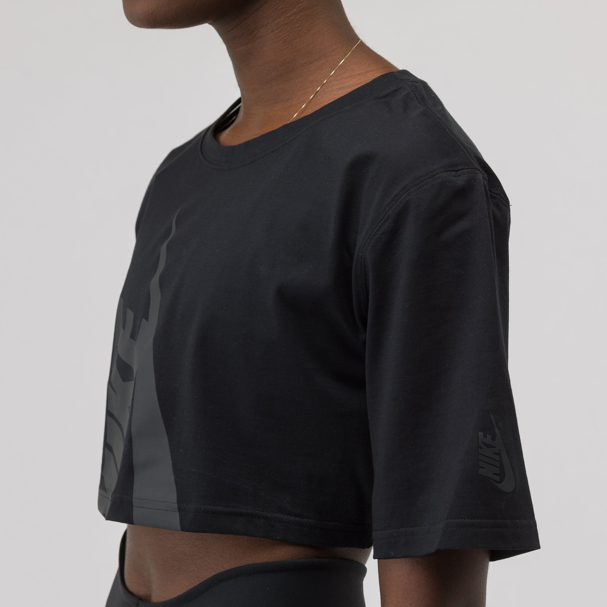 Women's Half Shirt in Black