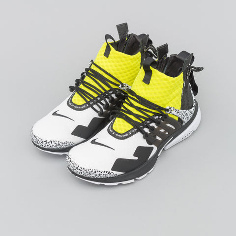 NikeLab x Acronym Air Presto Mid in White/Yellow - Notre