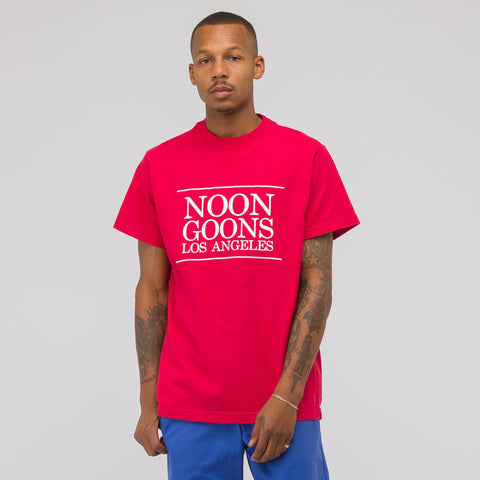 Noon Goons Los Angeles Short Sleeve T-Shirt in Red - Notre