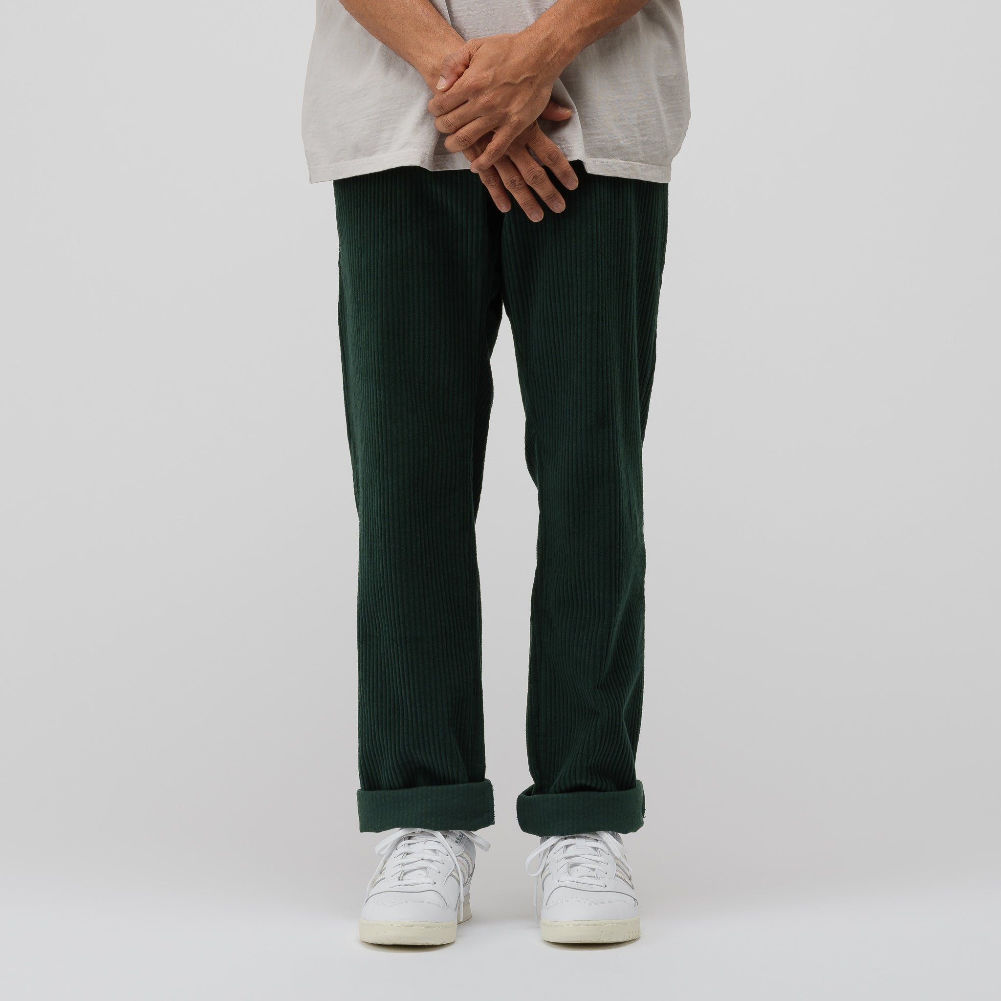 Catalina Cord Pant in Forest Green