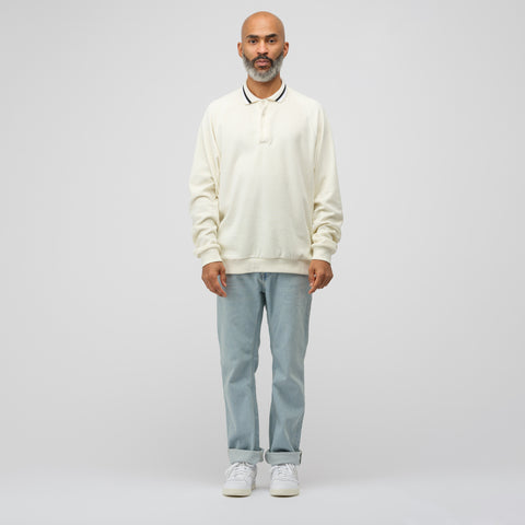 Noon Goons Felpa Velour Shirt in Off White - Notre