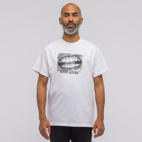 Noon Goons Mouthfeel T-Shirt in White - Notre