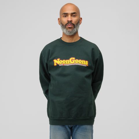 Noon Goons Pinned Crewneck in Forest Green - Notre