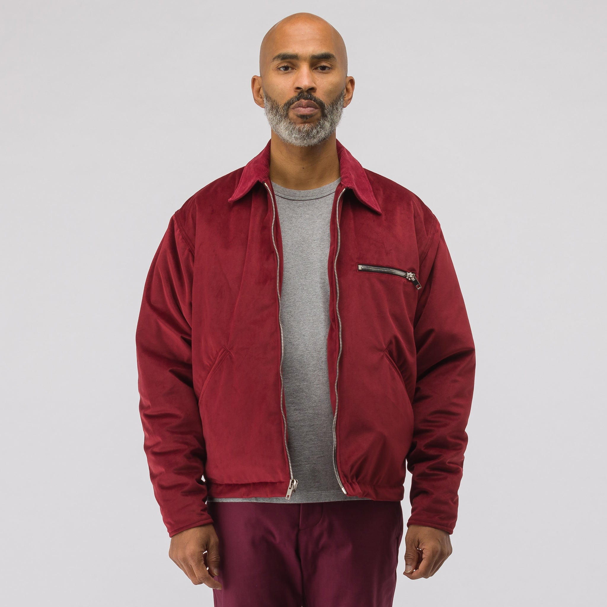 Racenight Jacket in Burgundy