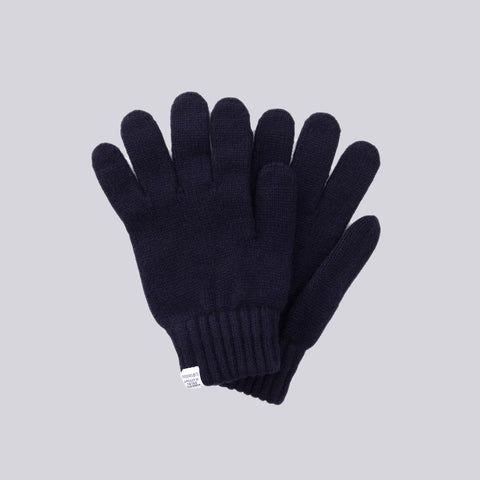 Norse Projects Norse Gloves in Navy - Notre