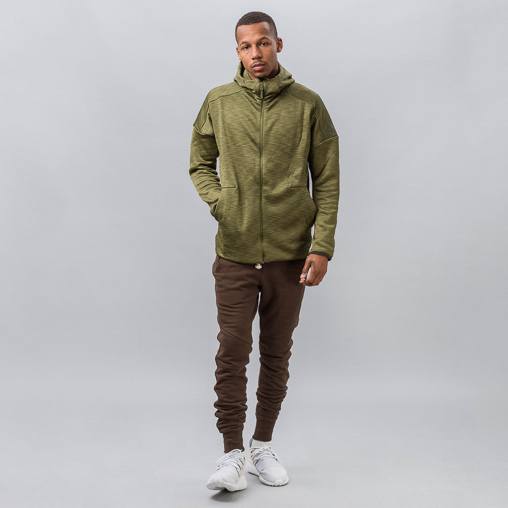 adidas Z.N.E. Climaheat Hoodie in Olive Cargo Notre 1