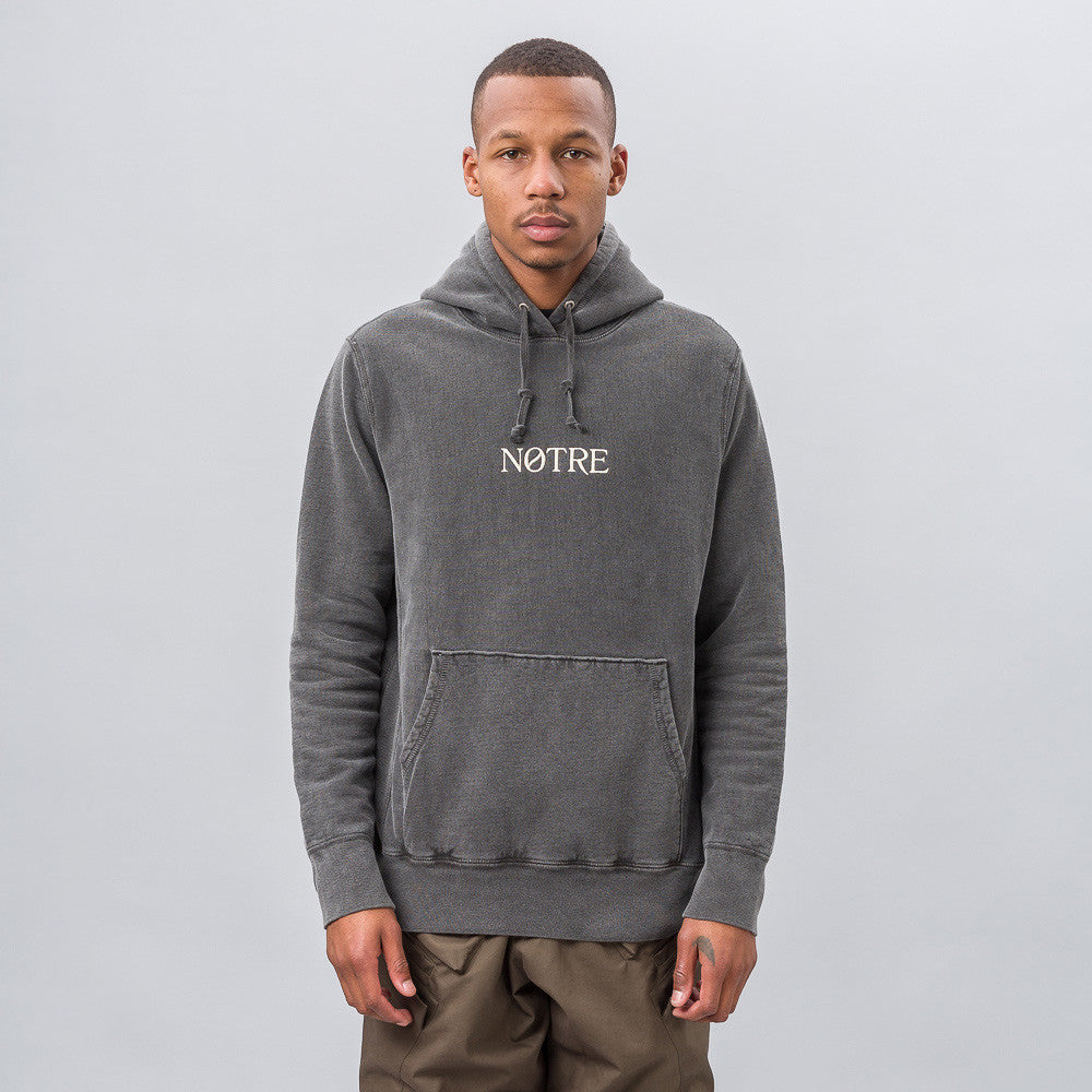Notre Notre Logo Hoodie in Charcoal - Notre