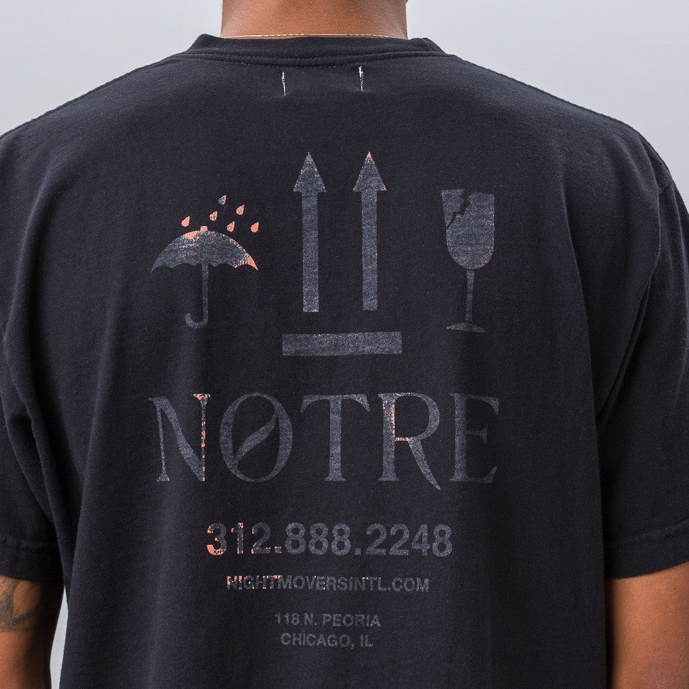 Notre Night Movers Tee in Black - Notre