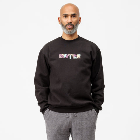 Notre Cut and Paste Crewneck Sweatshirt in Black - Notre