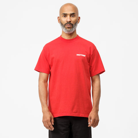 Notre Chisel S/S T-Shirt in Red - Notre