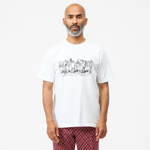 Notre Notre Blows S/S T-Shirt in White - Notre