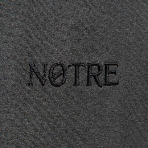 Notre S/S Washed Logo Tee in Charcoal - Notre