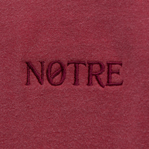 Notre S/S Washed Logo Tee in Red - Notre