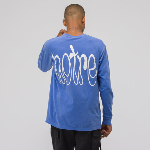Notre Access to Tools LS T-Shirt in Flo Blue - Notre