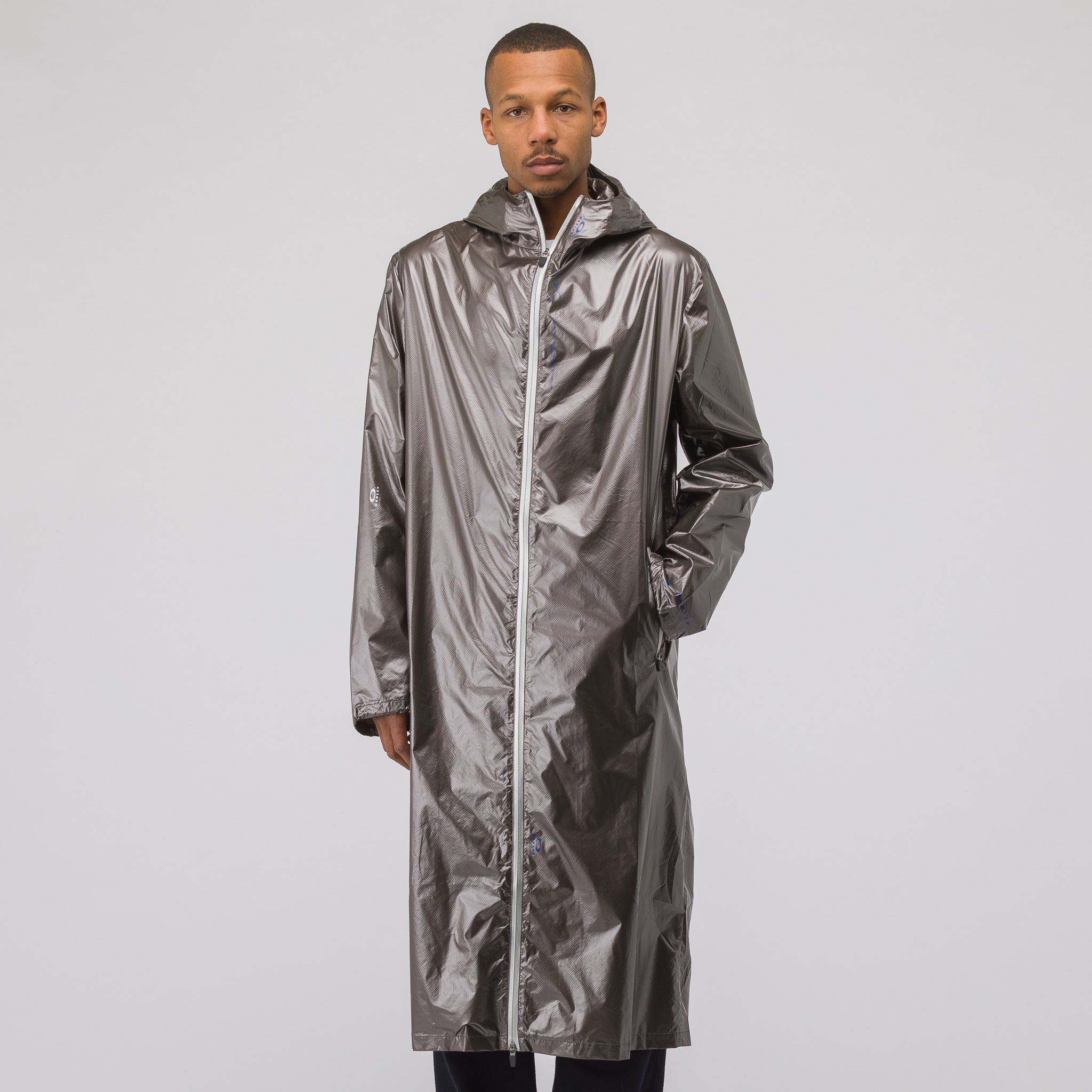 Long Coat in Metallic Bronze