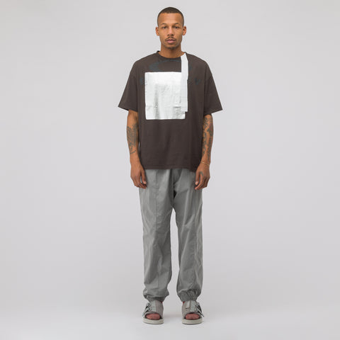 Oakley by Samuel Ross Multifabric T-Shirt in Brown - Notre