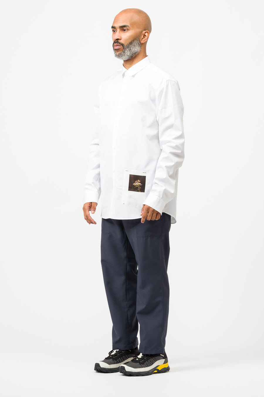 OAMC Andre Button Down LS Shirt in White - Notre
