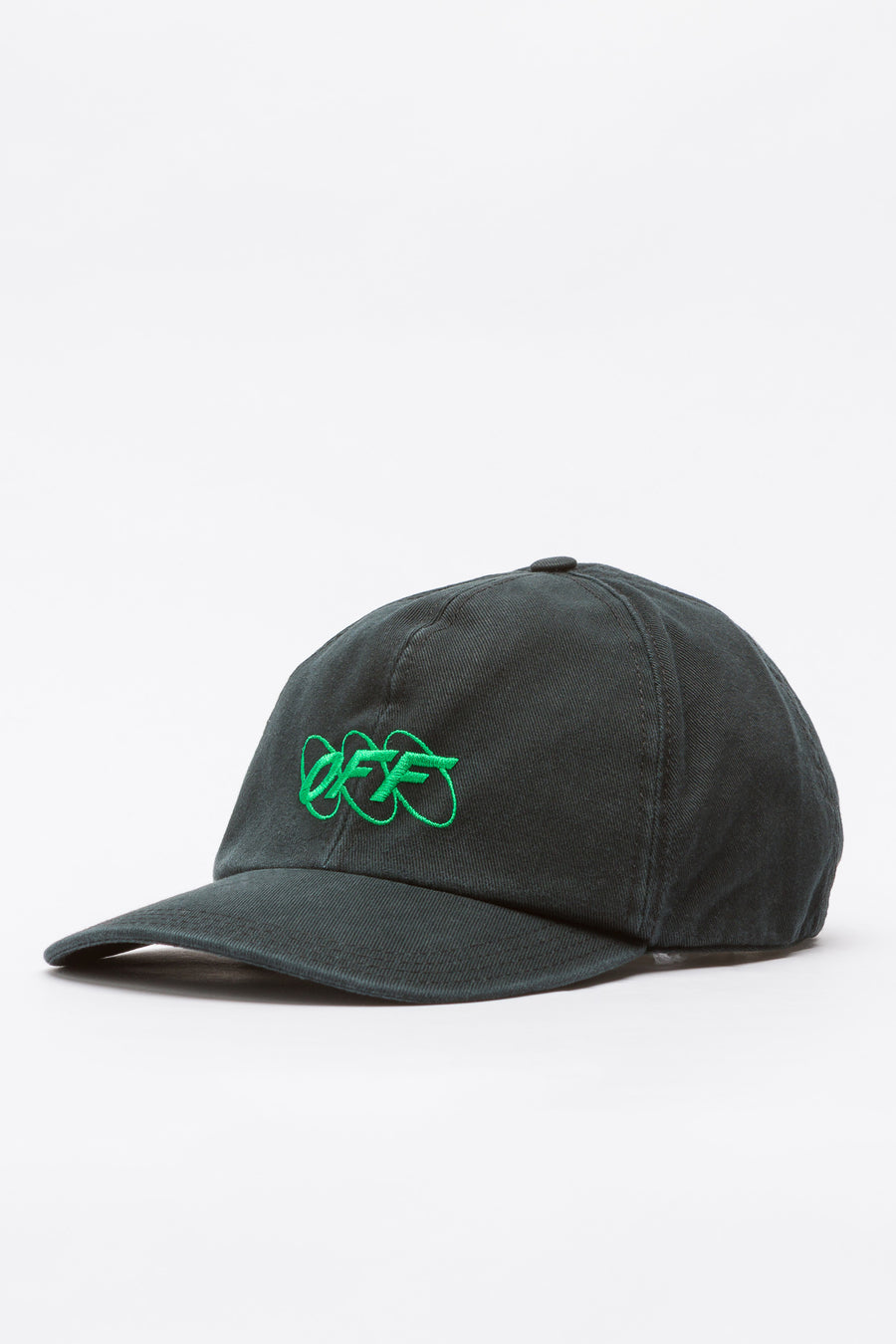 Off-White Circle Off 6 Panel Cap in Black/Green - Notre