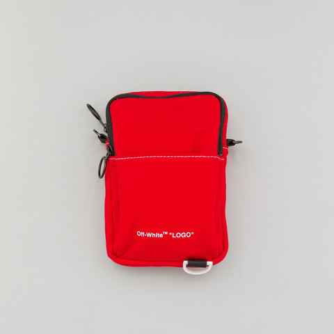 Off-White Denim Hip Bag in Red/White - Notre