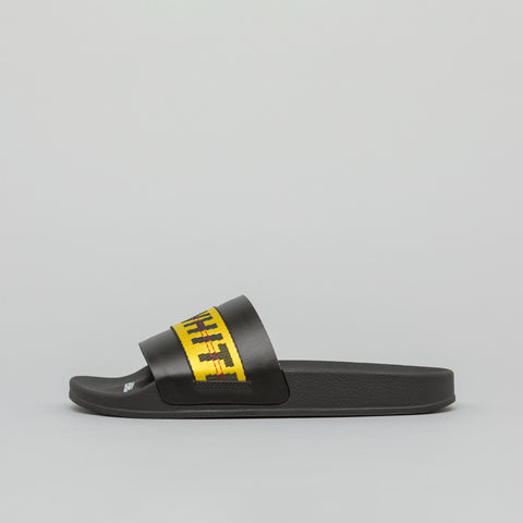 Off-White Industrial Slider in Black Yellow - Notre