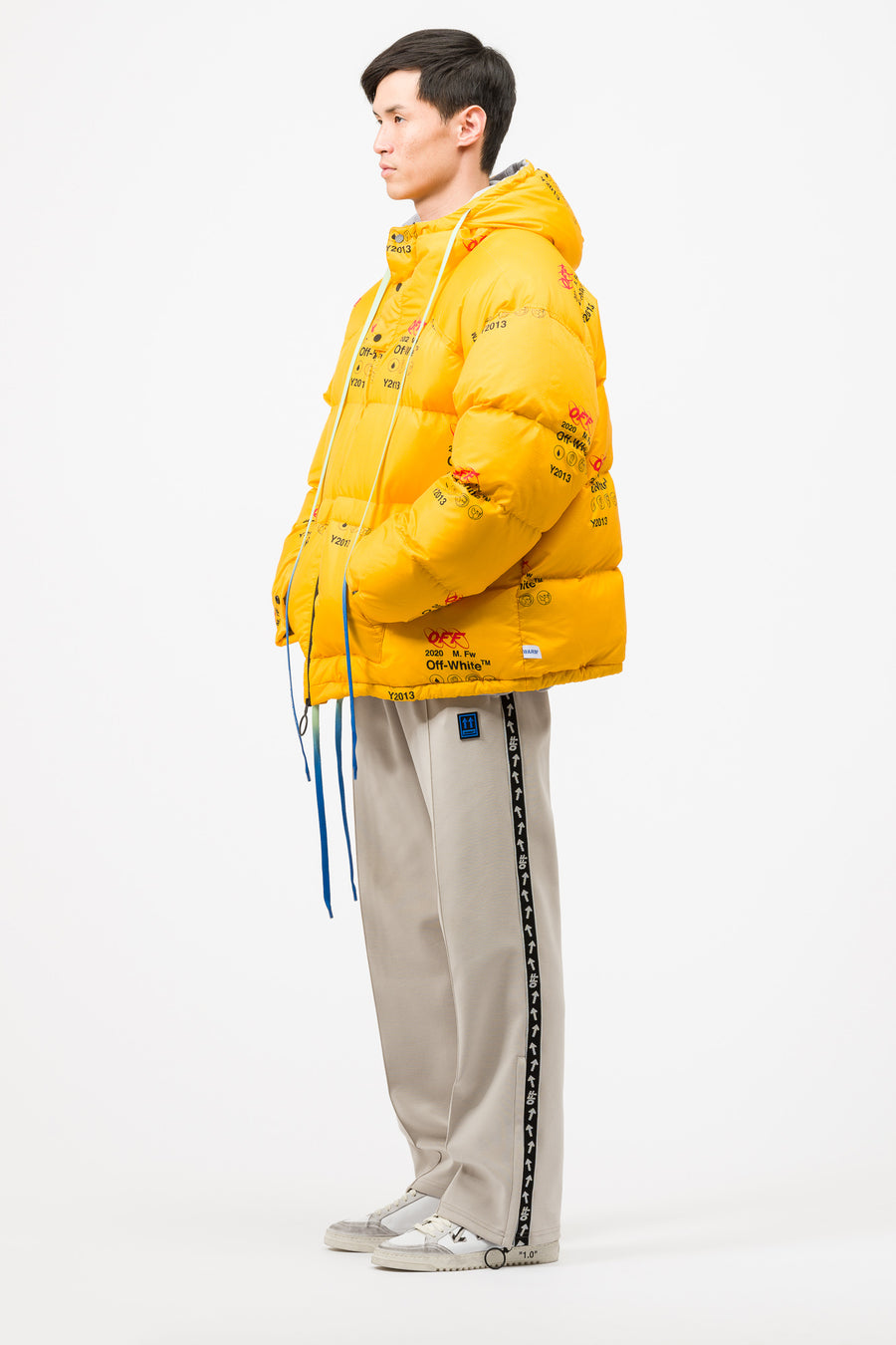 Off-White Industrial Zipped Puffer in Yellow - Notre