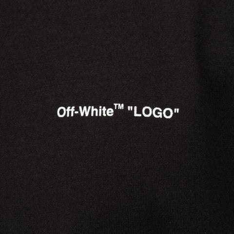 "Off-White ""Logo"" Short Sleeve Slim Tee in Black White - Notre"