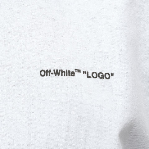 "Off-White ""Logo"" Short Sleeve Slim Tee in White Black - Notre"