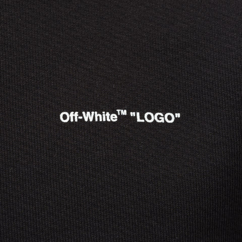"Off-White ""Logo"" Slim Crewneck in Black White - Notre"