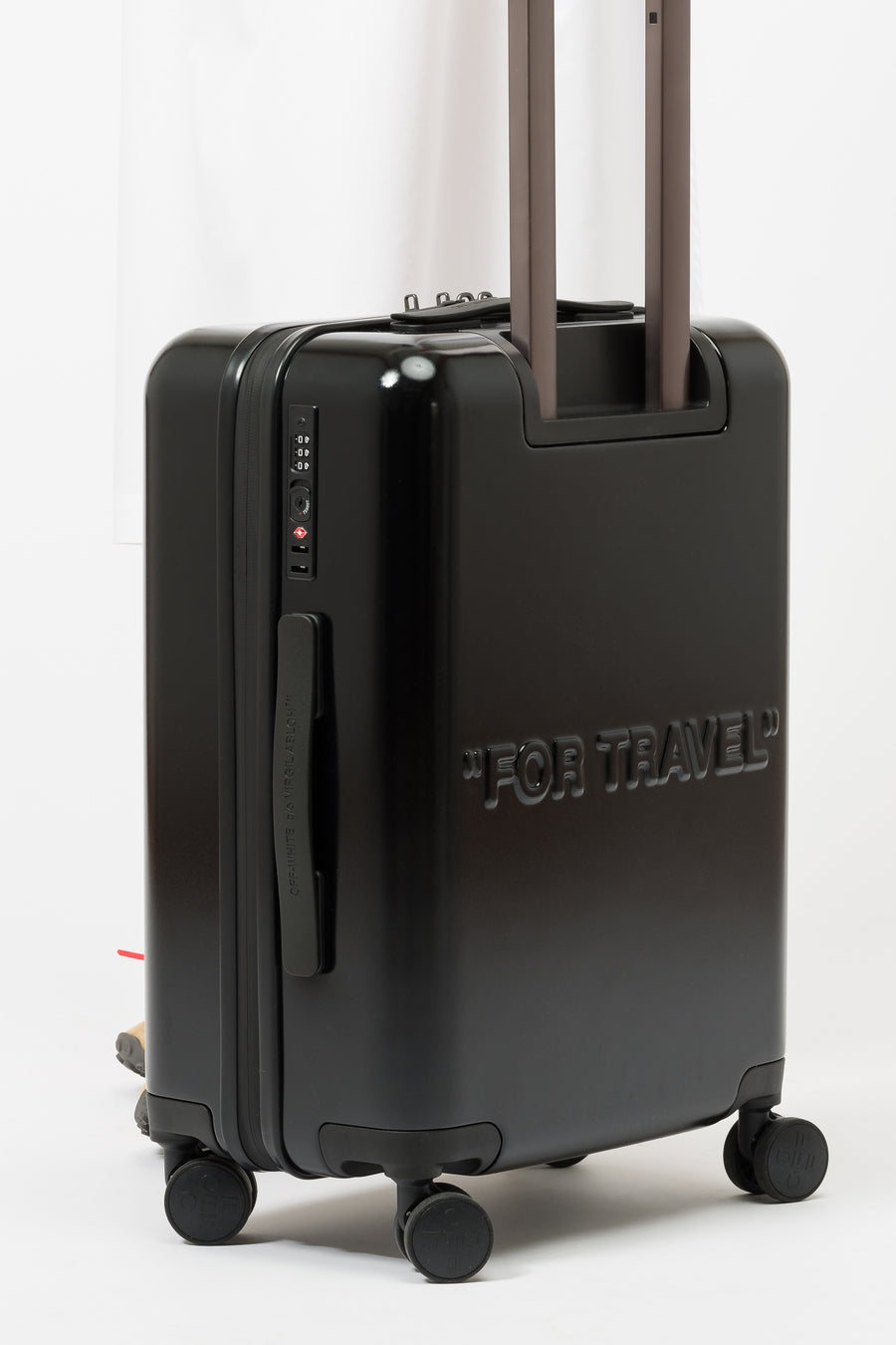 Off-White Arrow Trolley Luggage in Black - Notre