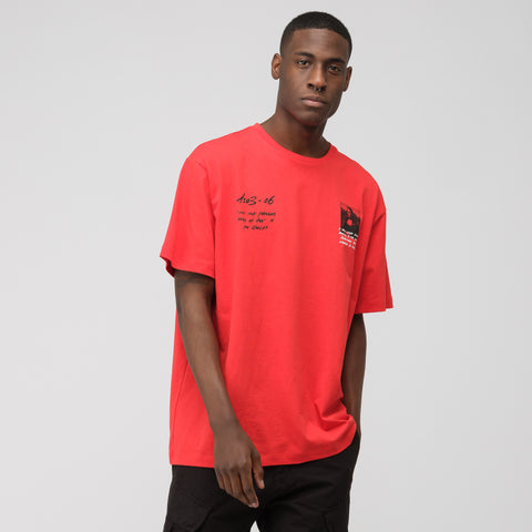 Off-White Monalisa Short Sleeve Over Tee in Red Black - Notre