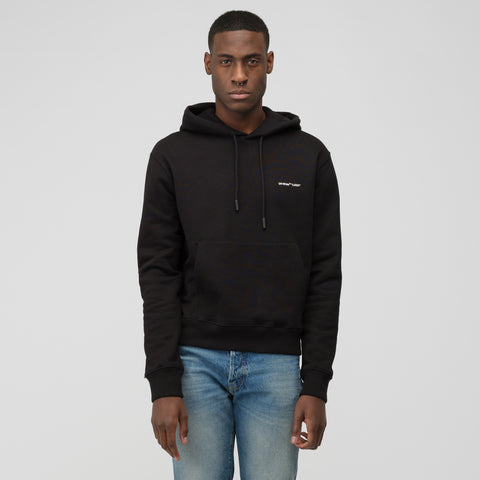 "Off-White Off White ""Logo"" Slim Hoodie in Black/White - Notre"