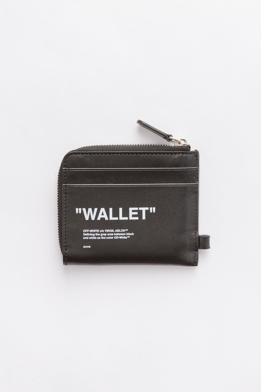 Off-White Quote Chain Wallet in Black/White - Notre