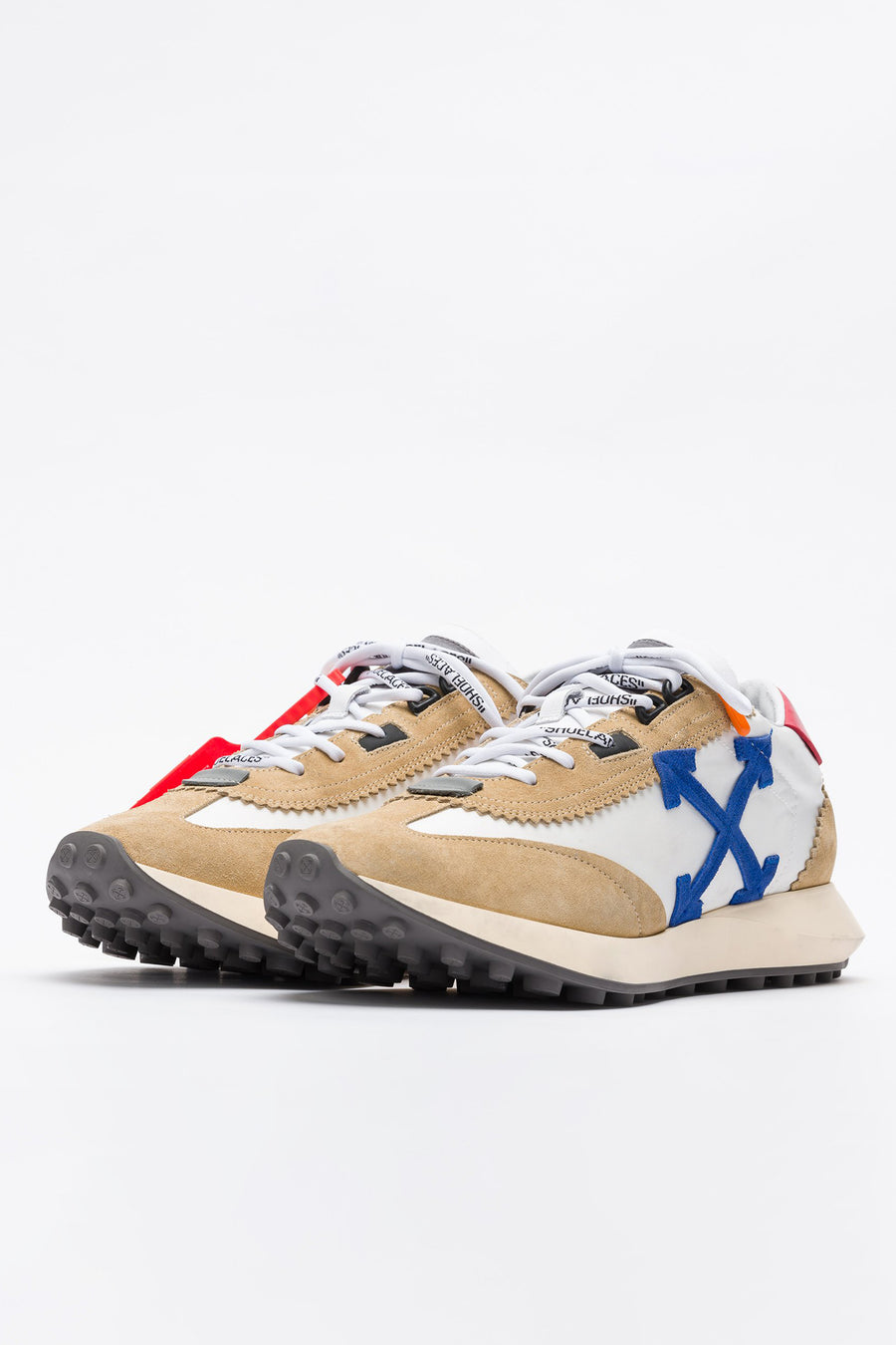 Off-White Running Sneakers in White/Blue - Notre