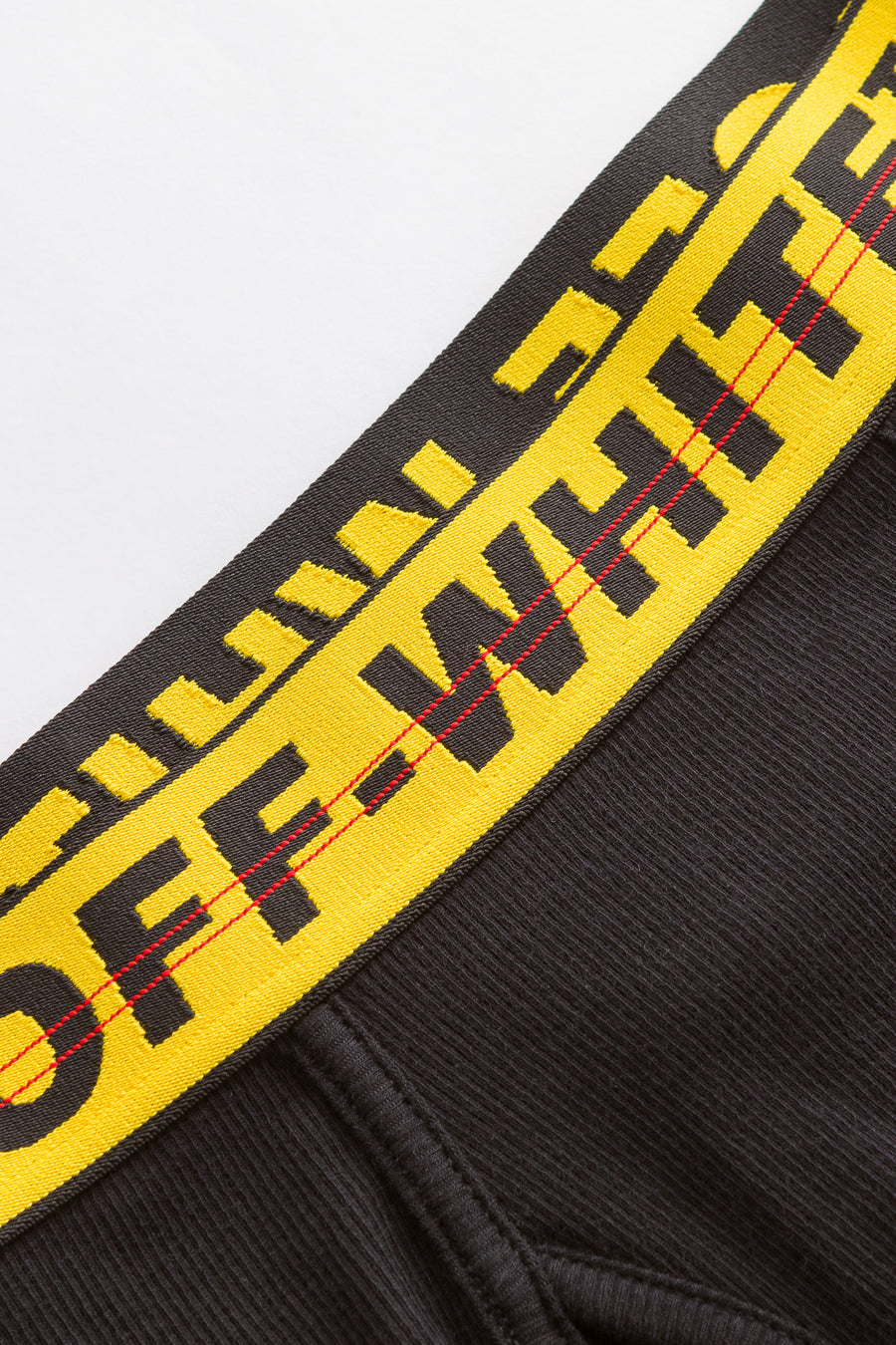 Off-White Single Pack Boxer in Black/Yellow - Notre