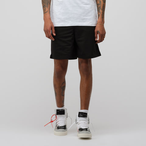 Off-White Split Logo Mesh Short in Black/Red - Notre