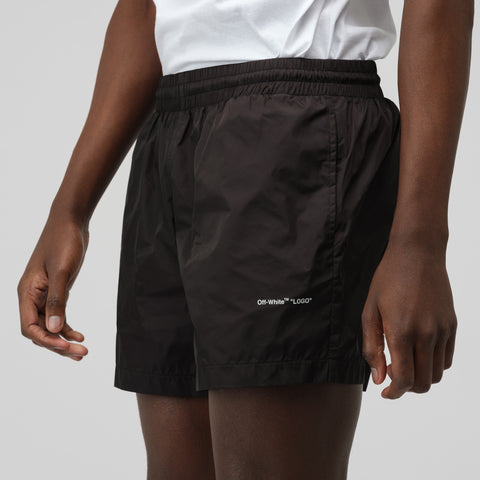 Off-White Swim Shorts in Black - Notre