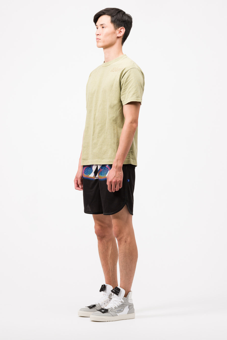 Off-White Thermo Mesh Shorts in Black/Multi - Notre