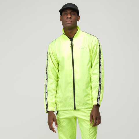 Off-White Track Jacket in Fluorescent Yellow - Notre