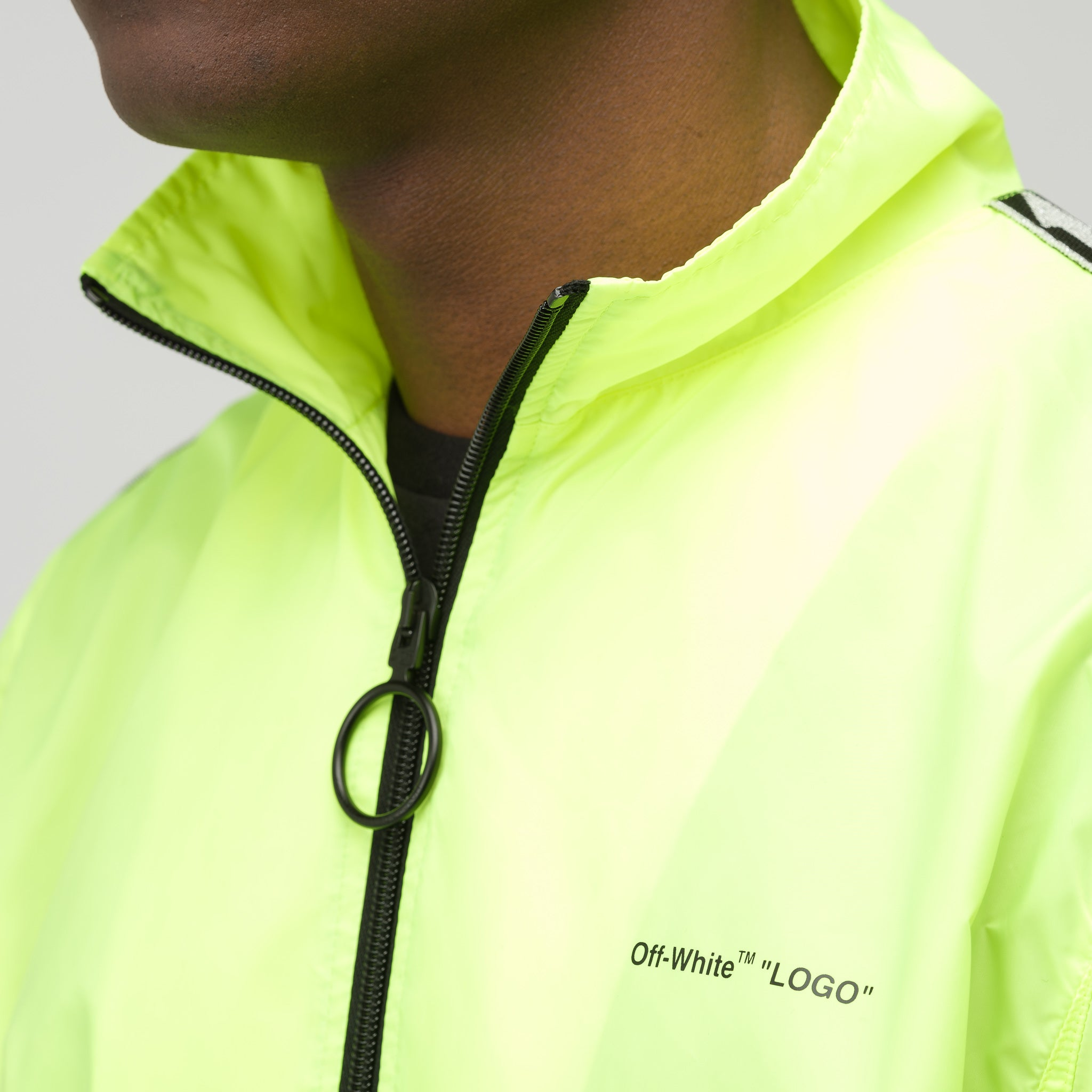Track Jacket in Fluorescent Yellow